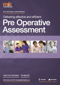 Conference - Delivering effective and efficient Pre Operative Assessment  - 2018